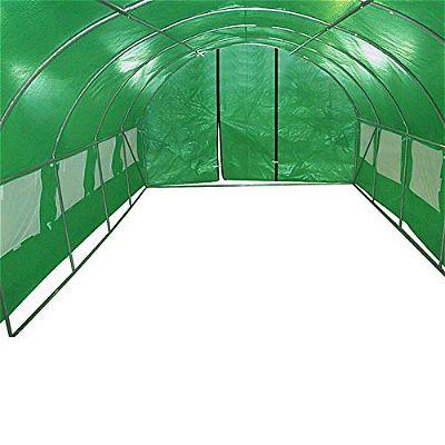 Quictent Galvanised 2 Door Portable Greenhouse Interior Environment
