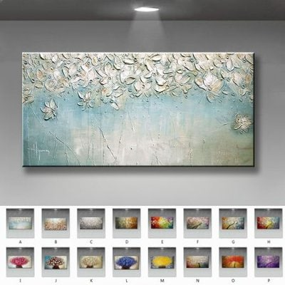 Hand painted canvas oil paintings modern wedding decor oil Painting Wall art Pictures home Decoration for living room on Canvans