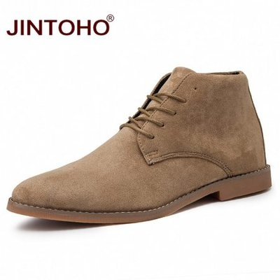 JINTOHO Fashion Pointed Toe Leather Boots Cheap Men Winter Boots Winter Shoes For Men 2019 Male Boots Mens Ankle Boots