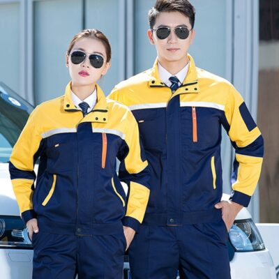 Men Women Work Uniforms Coat Work Clothing Sets Unisex Breathable Jackets+Pants Long Sleeve Factory Repair Mechanic Protection