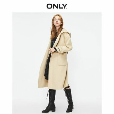 ONLY 2019 Autumn Winter Women's Long Double-faced Woolen Coat | 11934S510