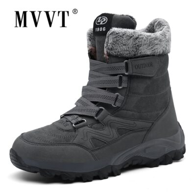 Super Warm Boots Men Snow Boots Mid-Calf Outdoor Men Winter Boots Waterproof Keep Warm High Boots Men botas hombre
