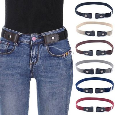 Women's Buckle-Free Elastic BeltsWaist Belt Invisible Belt for Jeans No Bulge Hassle Band