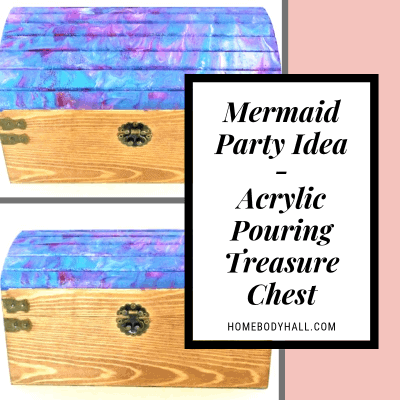 Mermaid Party Idea Acrylic Pouring Treasure Chest