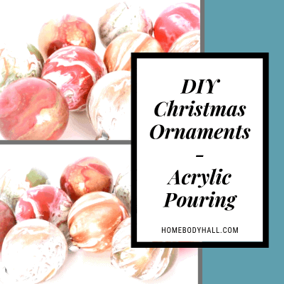 DIY Christmas Ornaments are the best! And acrylic pouring is the perfect way to make easy, unique ornaments that are perfect for your tree or gifts!