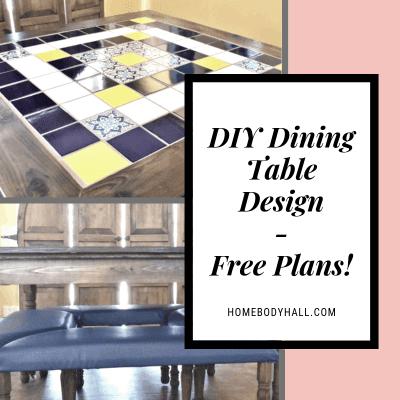 DIY Dining Table Design - Free Plans!