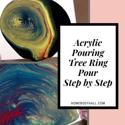 Acrylic Pouring Tree Ring Pour Step by Step