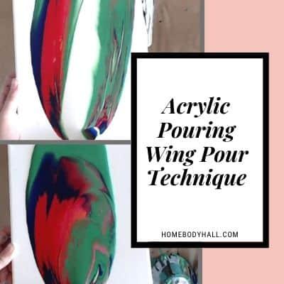 Acrylic Pouring Wing Pour Technique