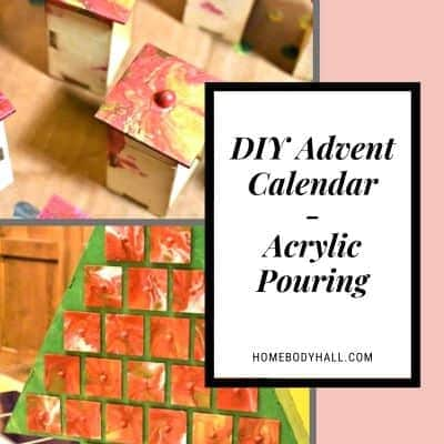 DIY Advent Calendar Acrylic Pouring