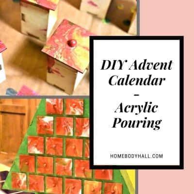 DIY Advent Calendar Acrylic Pouring