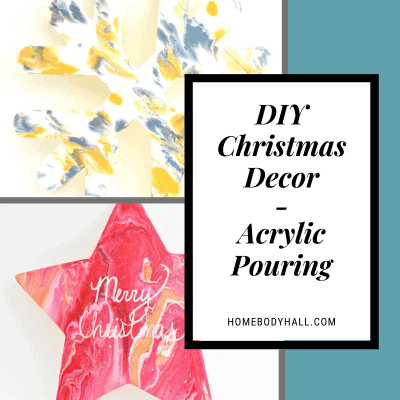 DIY Christmas Decor - Acrylic Pouring