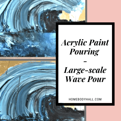 Acrylic Paint Pouring Large-Scale Wave Pour