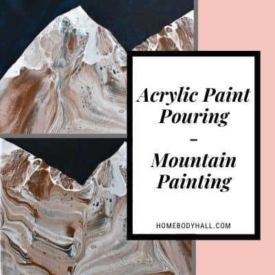 Acrylic Paint Pouring Mountain Painting
