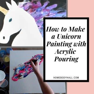 How to make a Unicorn Painting with Acrylic Pouring