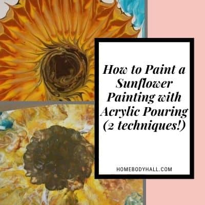 How to Paint a Sunflower with Acrylic Pouring (2 techniques!)