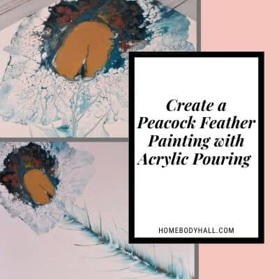Create a Peacock Feather Painting with Acrylic Pouring