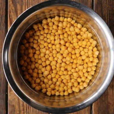 チャナマサラ、ひよこ豆の下準備