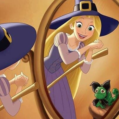 Rapunzel-and-Pascal-witches hat (1)