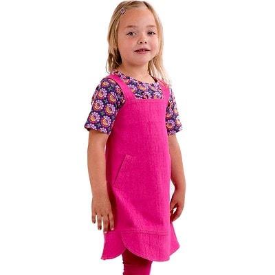 Träger Jeans Kleid in fuchsia von Elli Wunderstücke