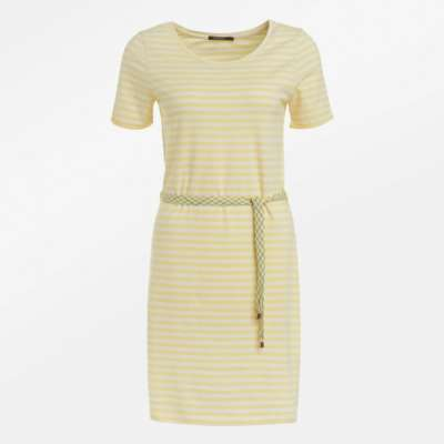 Greenbomb soft dress yellow stripes