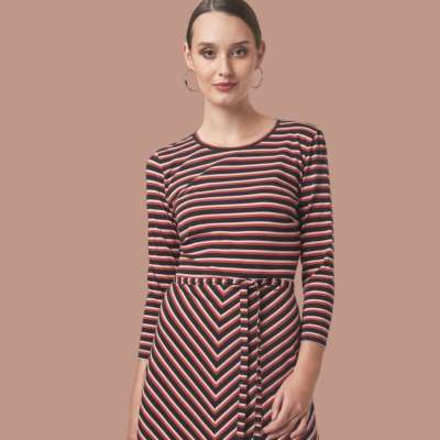 Mademoiselle Yeye Frauen Kleid stripes multi