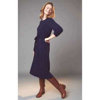 Lily Balou Viskose Damen Kleid Gürtel patriot blue