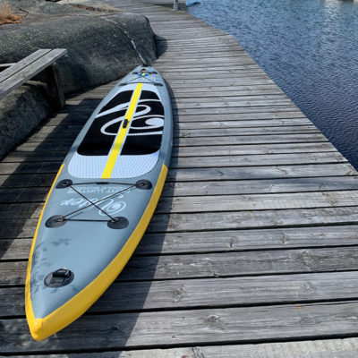 Secure you inflated paddle boards or kayaks before leaving them