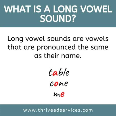 what is a long vowel sound