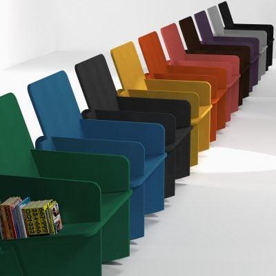 Fauteuil en Valchromat - 10 coloris différents