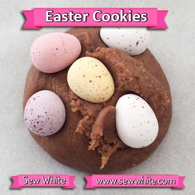 Sew White chocolate Easter mini egg cookies 2