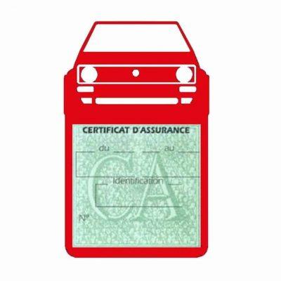 Porte vignette voiture Golf1 Volkswagen rouge