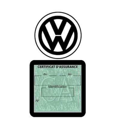 VOLKSWAGEN pochette étui assurance voiture VW