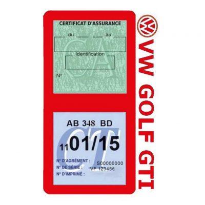GOLF GTI vignette assurance Volkswagen rouge