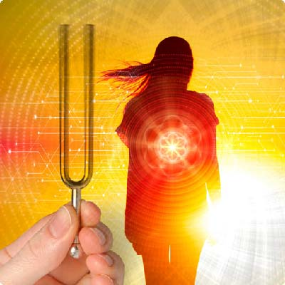 Sound healing treatments with tuning forks