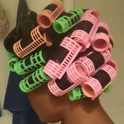 How to Roller Set Ntural Hair