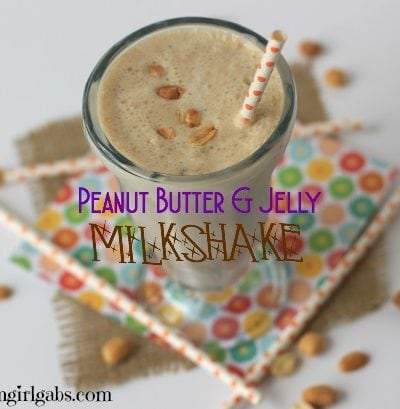 Are you a fan of Peanut Butter & Jelly Sandwiches? Then you have to try this Peanut Butter & Jelly Milkshake. This is my copycat recipe from The 50's Primetime Cafe in Disney's Hollywood Studios. #DisneySide #DisneySMMC