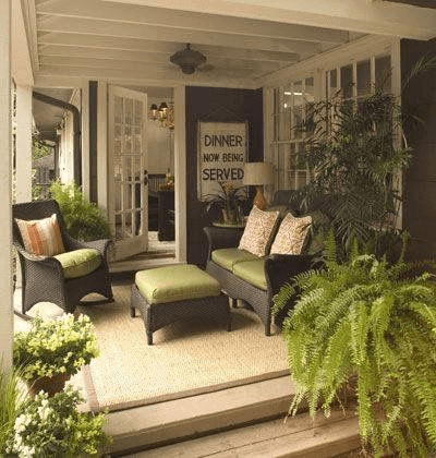 COZY GREENERY COVERED PORCH DESIGN IDEAS