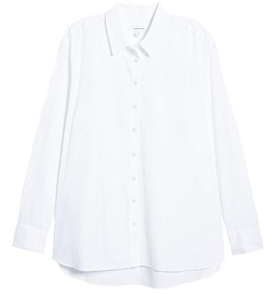 travel clothes for women - Nordstrom poplin shirt | 40plusstyle.com