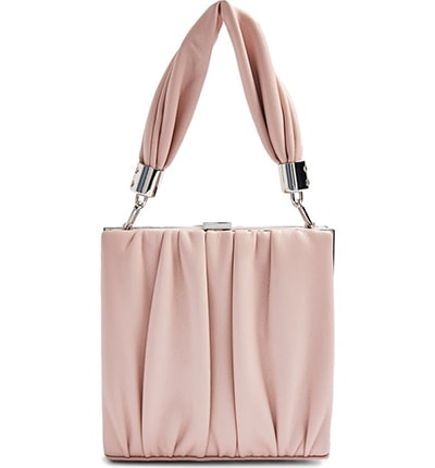 Topshop pleated faux leather grab bag | 40plusstyle.com