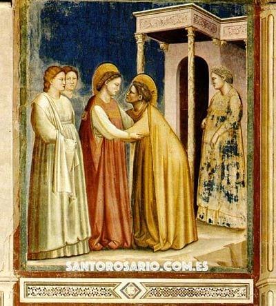 Segundo Misterio Gozoso: La Visitación de nuestra Señora a su prima Isabel