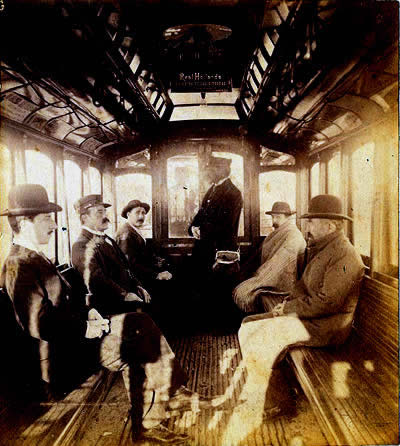 Workers on Line A of the Buenos Aires subte circa 1913