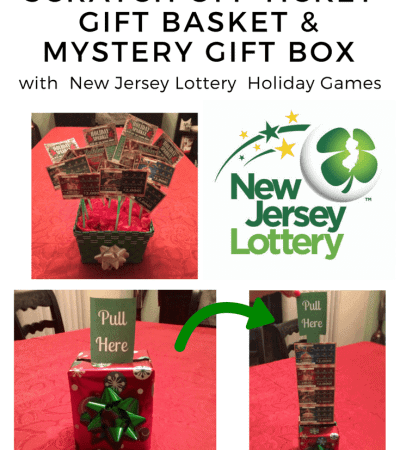 DIY Scratch Off Ticket Gift Basket & Mystery Gift Box with New Jersey Lottery Holiday Games