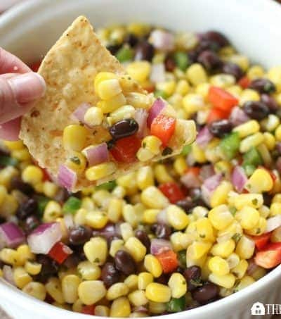 Need a quick snack or appetizer? Try this Roasted Corn And Black Bean Salsa recipe. It makes a great appetizer for your next party or is a perfect topping for tacos.