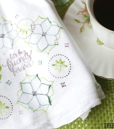 This easy DIY Stamped Friendship Tea Towel is the perfect gift from the heart. Make one to give and make one to keep.