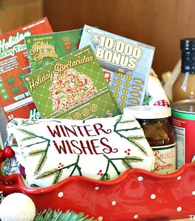 It's holiday entertaining season. Bring this Winter Wishes NJ Lottery Hostess Gift to the next Christmas party you attend. Share some luck with a few New Jersey Lottery tickets too.