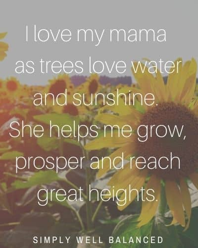 """I love my mama quote 