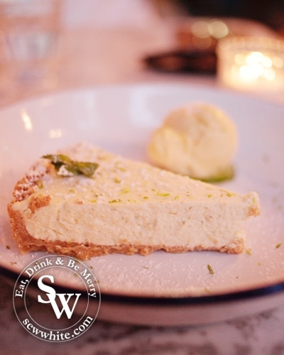 lemon and lime cheesecake at the The Loft Wimbledon