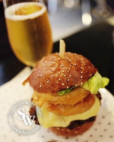 CAU Wimbledon Review burger and beer