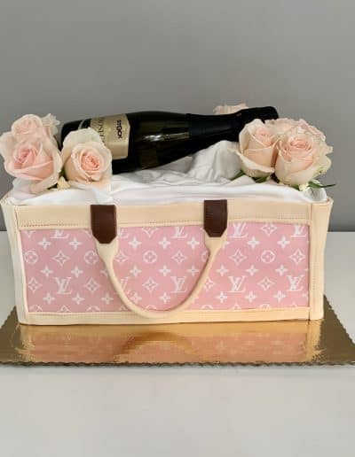 tort torebka Louis Vuitton rozowy
