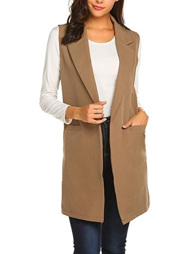 Stylish sleeveless jackets | 40plusstyle.com